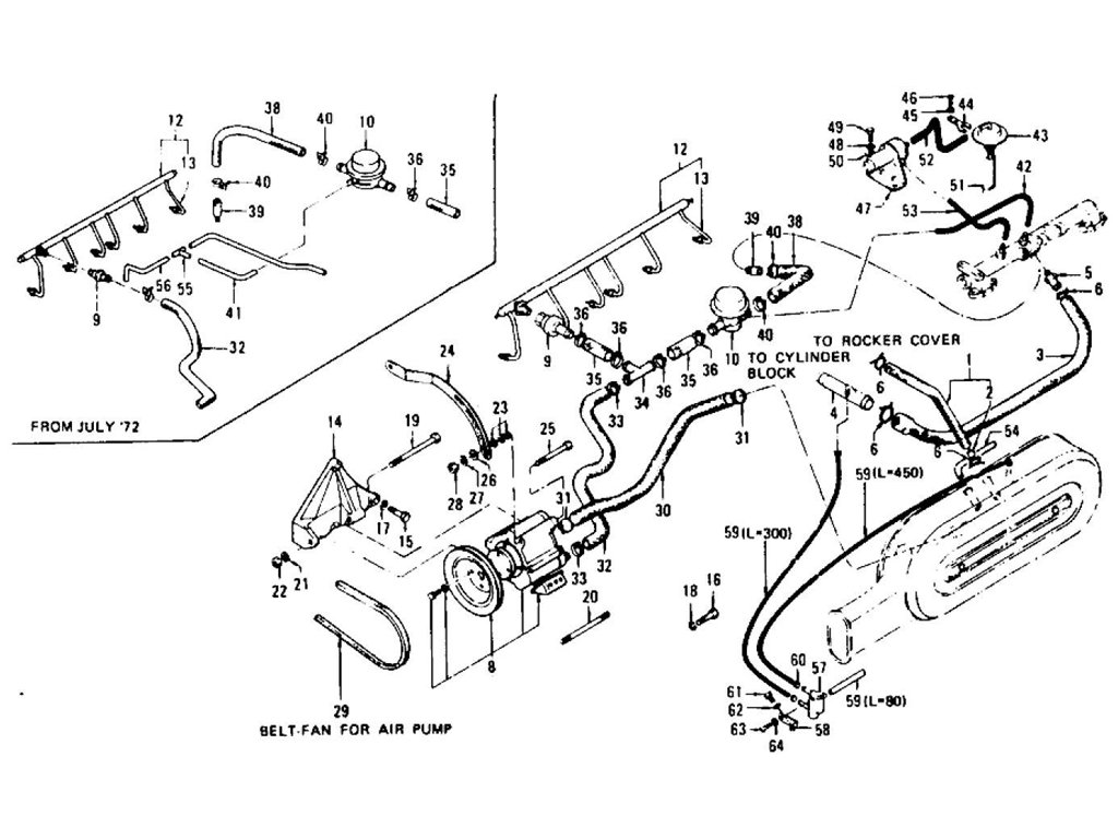 Datsun Z Emission Control Device L24 L26 To Nov 74 Engine Diagram