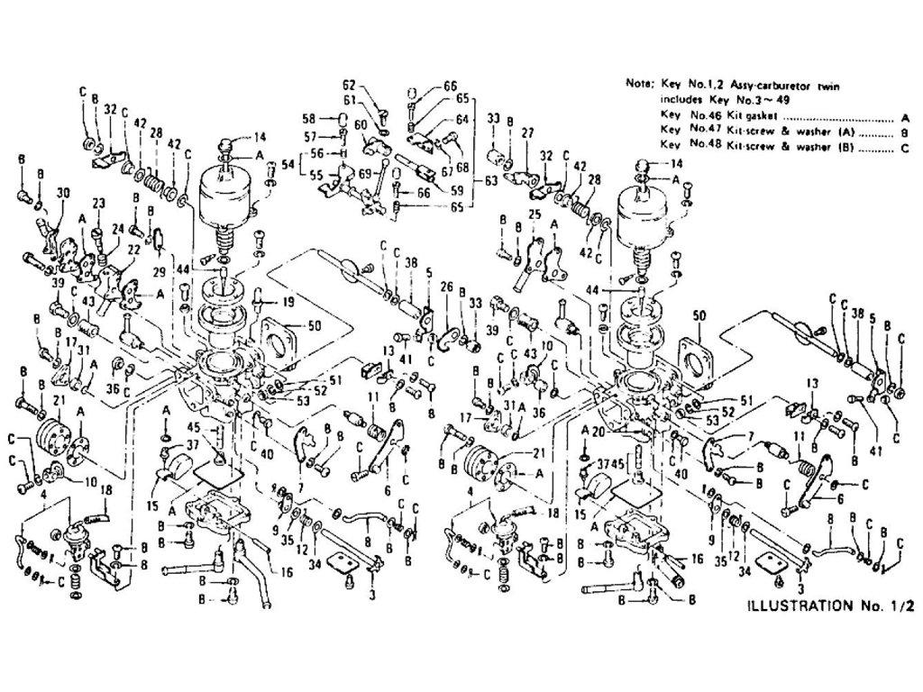 datsun z carburetor l24  from jul