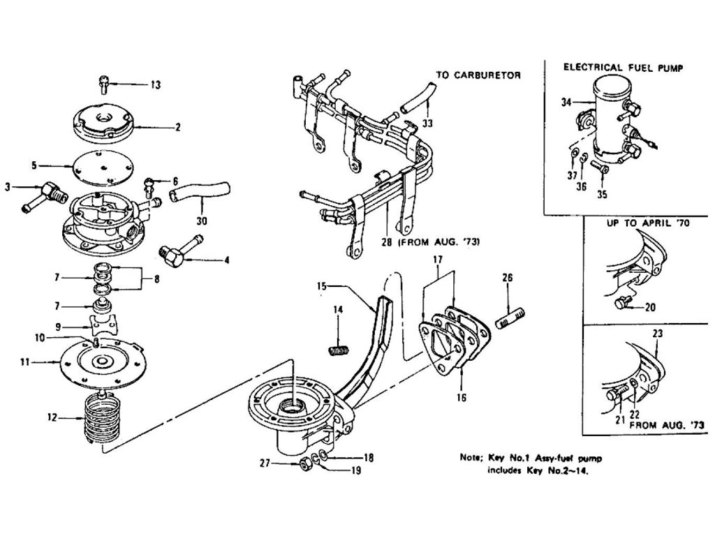1972 nissan 240z engine diagram