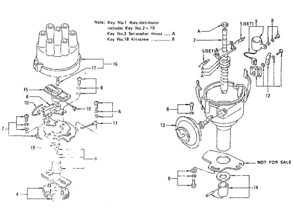 datsun z distributor  for manual   from sep