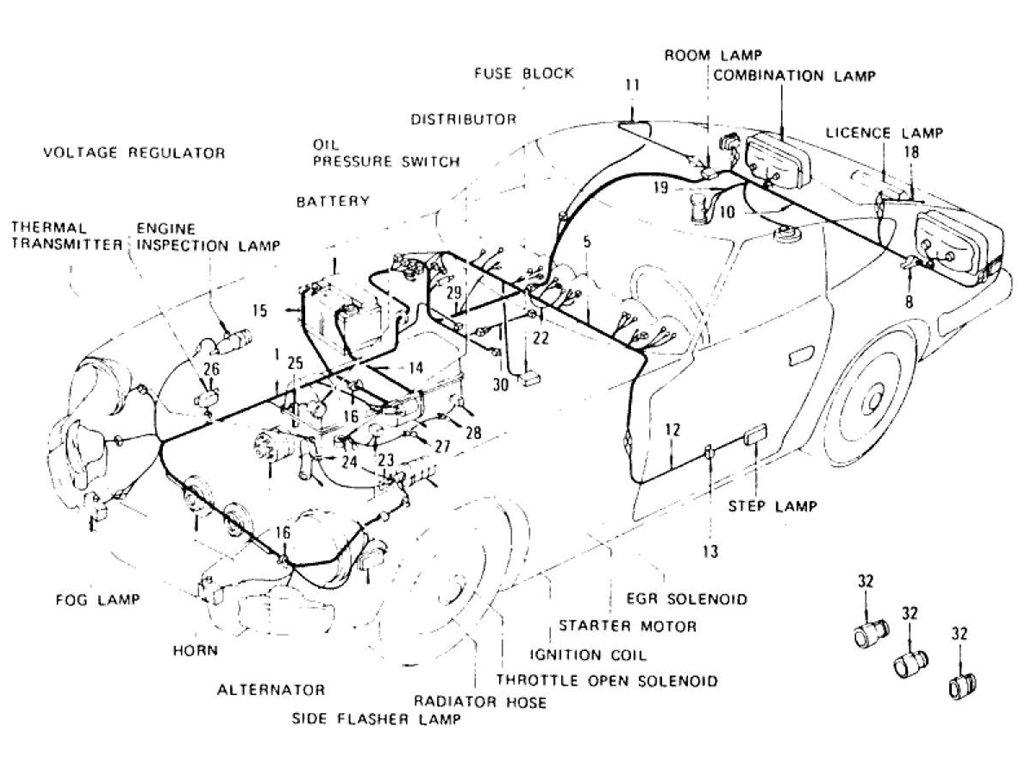 Datsun Z Wiring To Jul 76