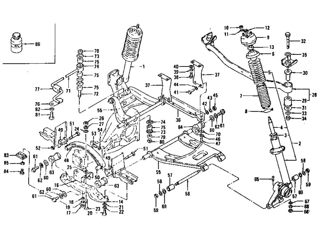 Rear Suspension (Strut, Shock Absorber & Transverse Link)