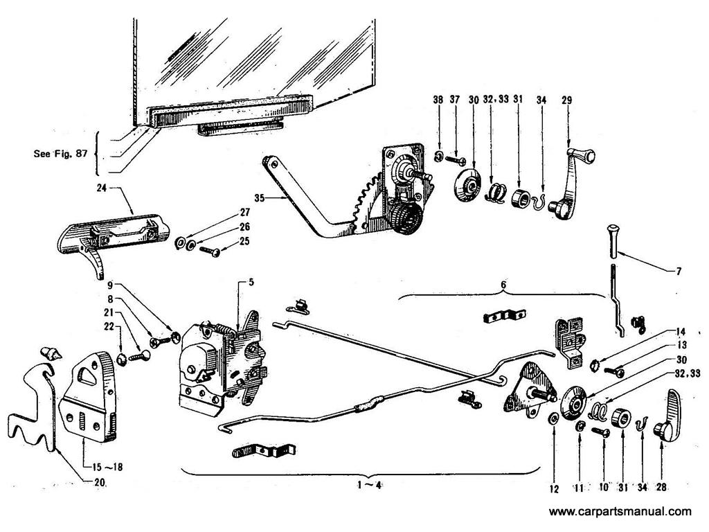 Datsun 1600 Fuel System Diagram Electrical Wiring Diagrams Bluebird 410 Rear Door Lock Regulator Sports Car