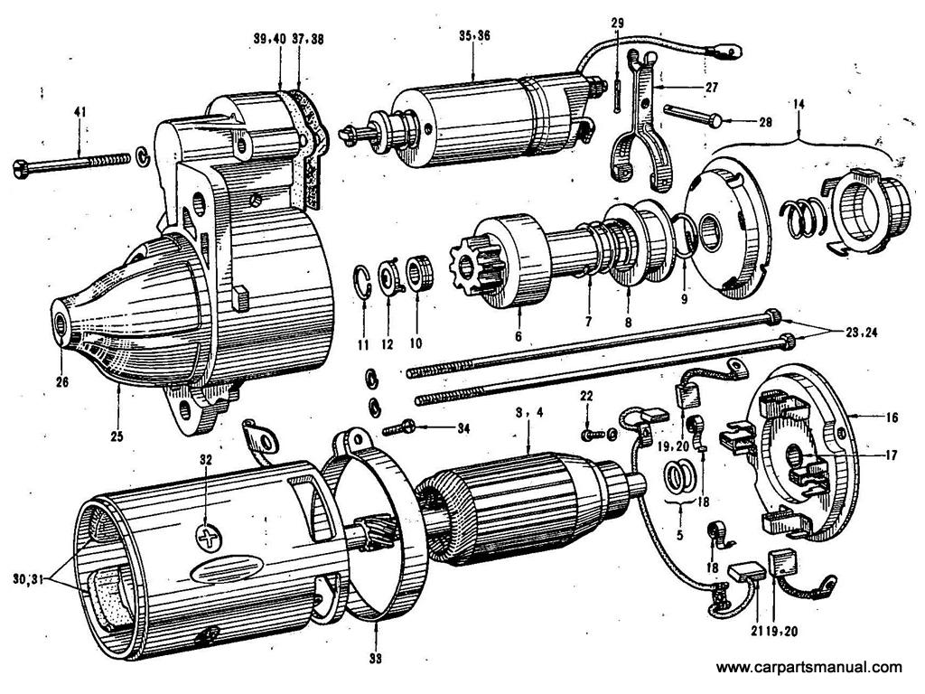 datsun bluebird 411 starter motor hitachi