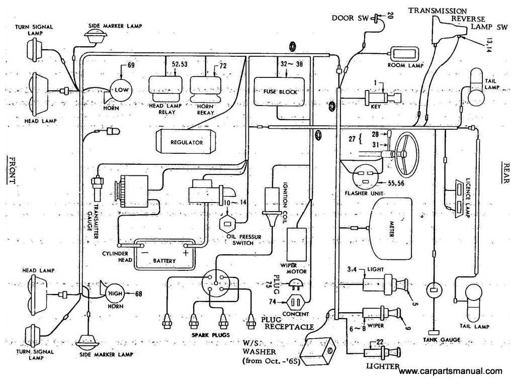 datsun bluebird (411) electric unit 1999 bluebird bus wiring diagram bluebird alternator wiring schematics #13