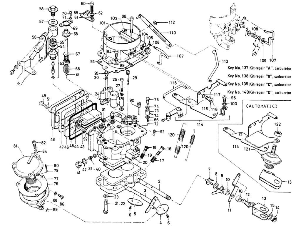 datsun 510 carburetor  hitachi