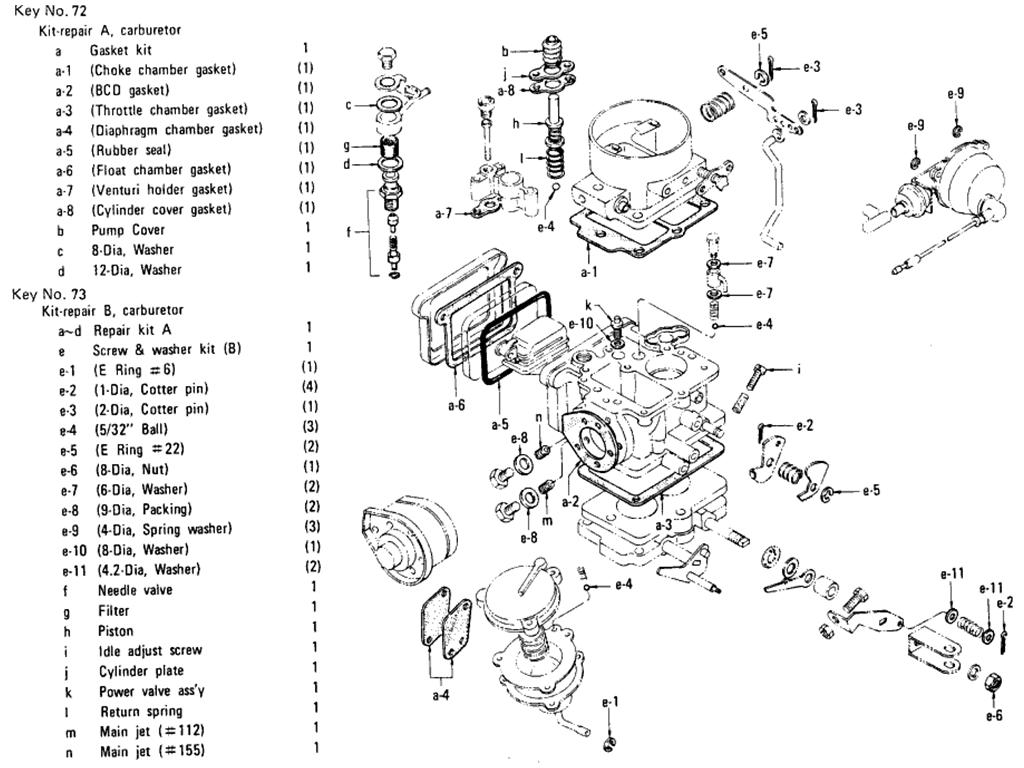 datsun 510 carburetor  hitachi   l16 auto   from jun