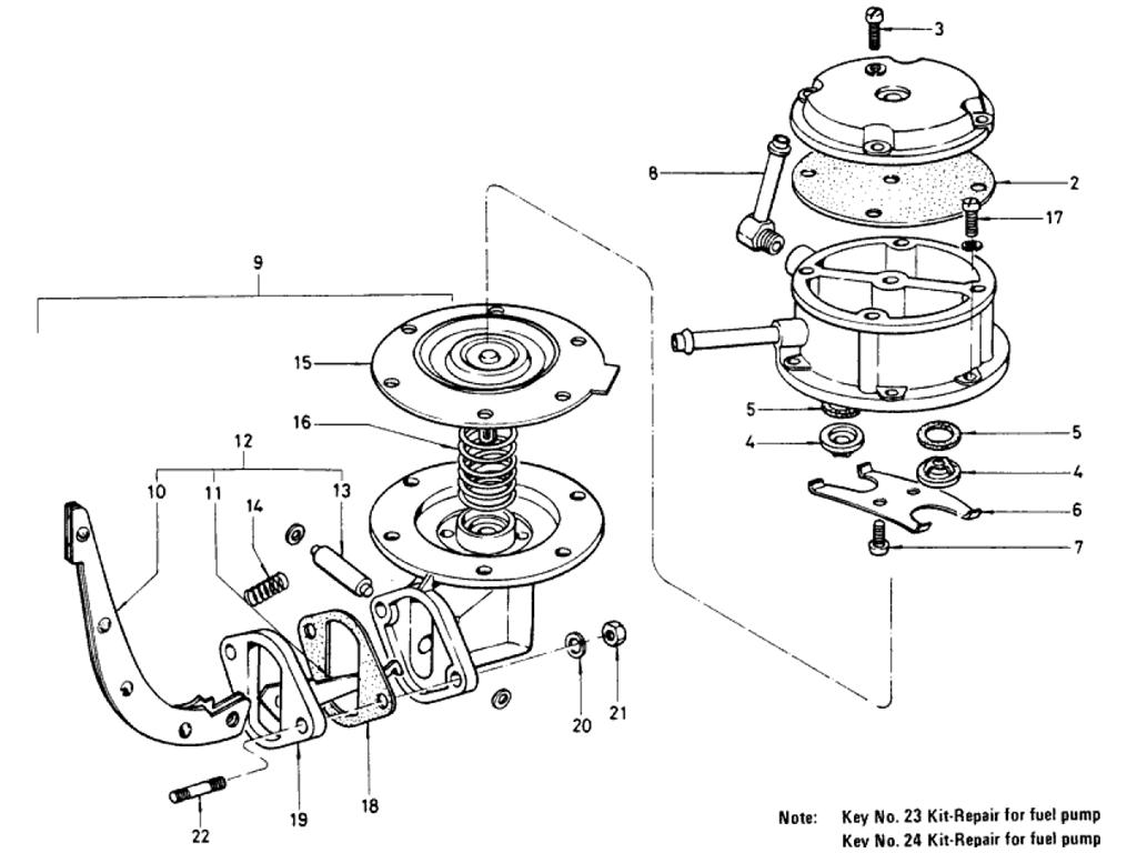 Datsun 510 Fuel Pump To Jul 70