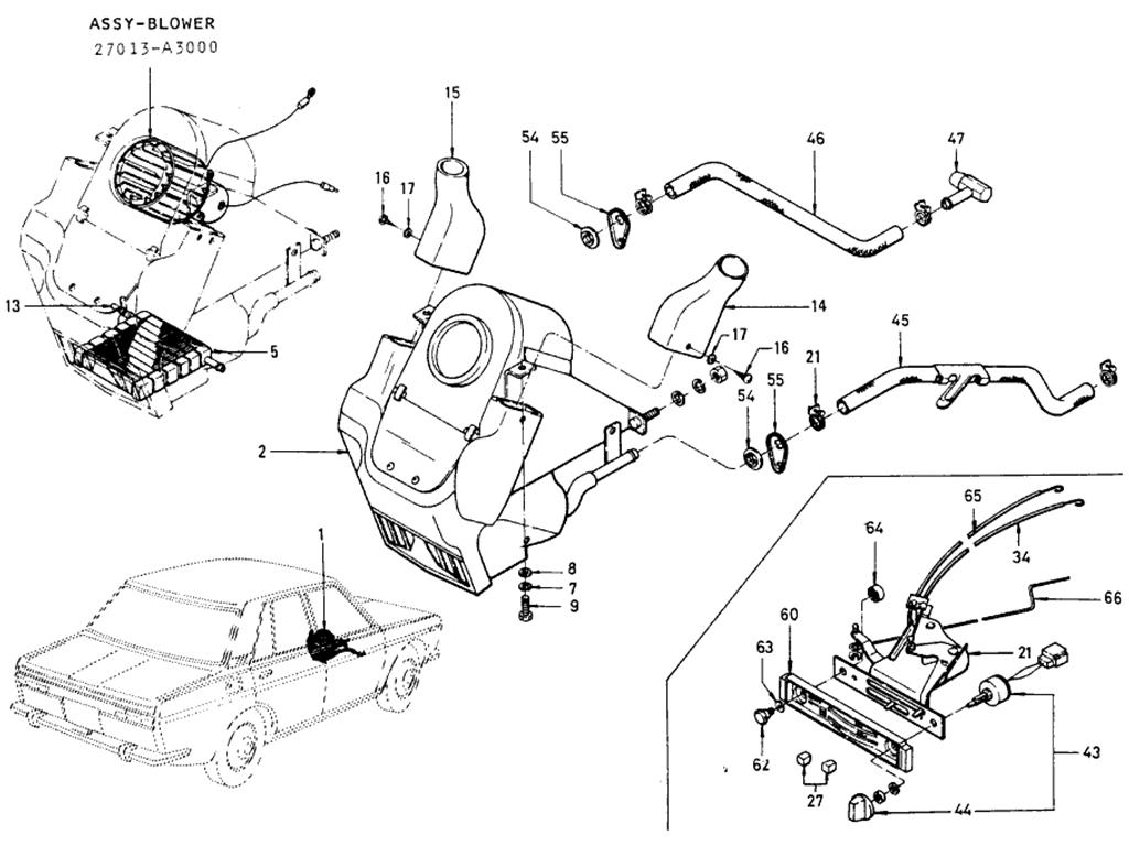 Datsun 510 Heater