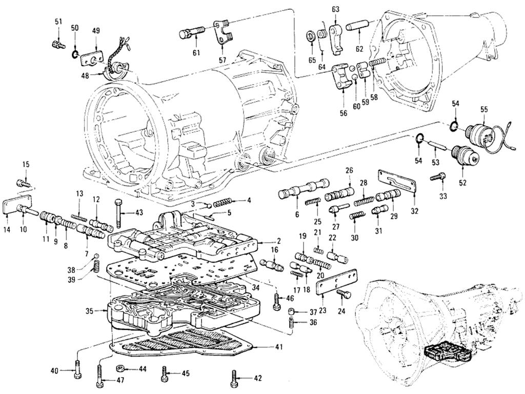 datsun 510 transmission valve bodies  automatic