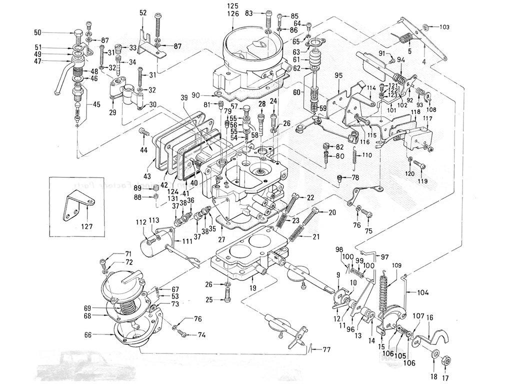 datsun pickup  520  521  carburetor  hitachi   to may