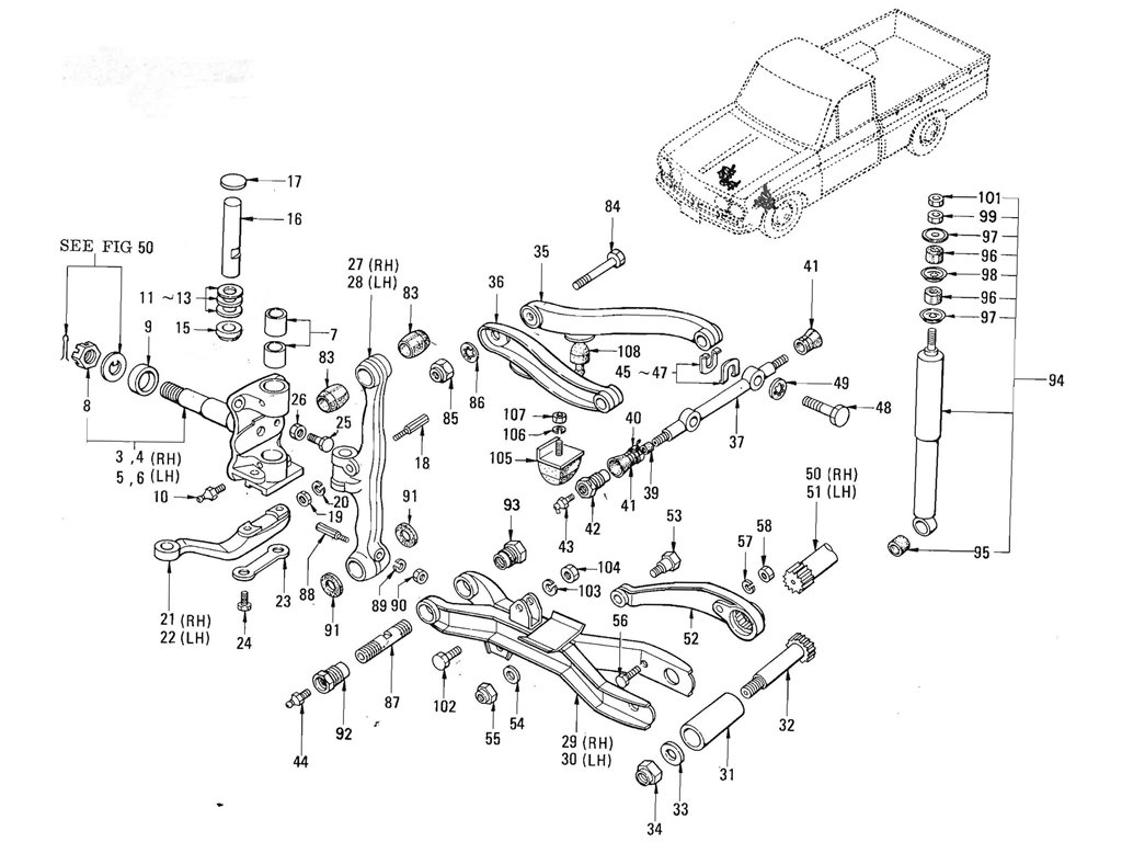 datsun 521 parts related keywords