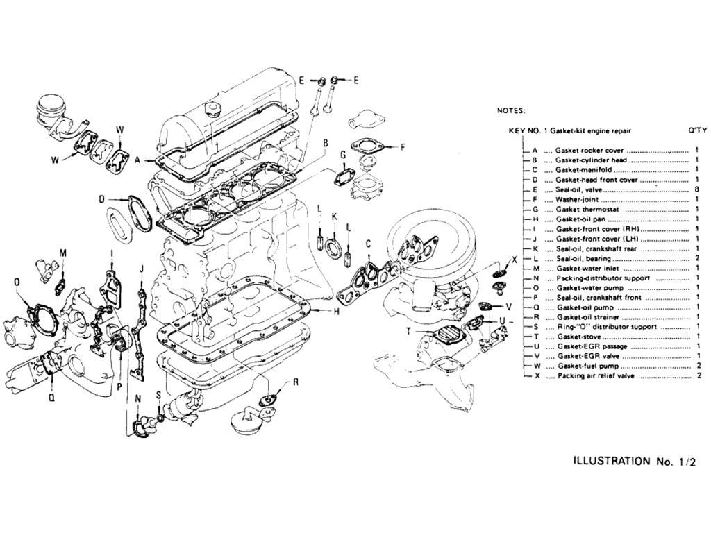 l20b engine diagram wiring diagram officiall20b engine diagram wiring libraryengine repair gasket kit (l20b)