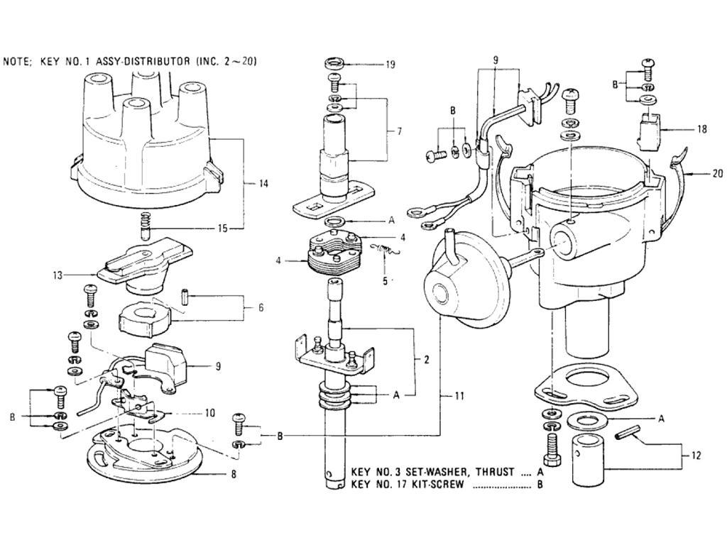 Datsun Pickup 620 Distributor Hitachi D4f Wiring Diagram For L20b