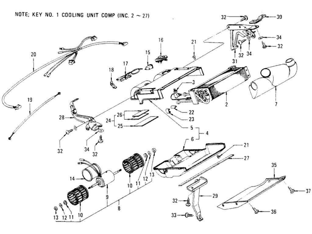 Datsun Pickup (620) Cooling Unit