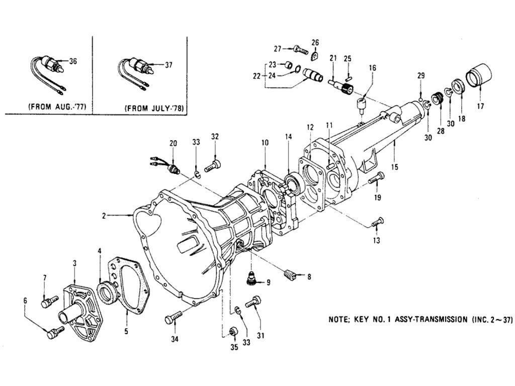 Datsun Pickup (620) Transmission Case 5-Speed (FS5W71B ...