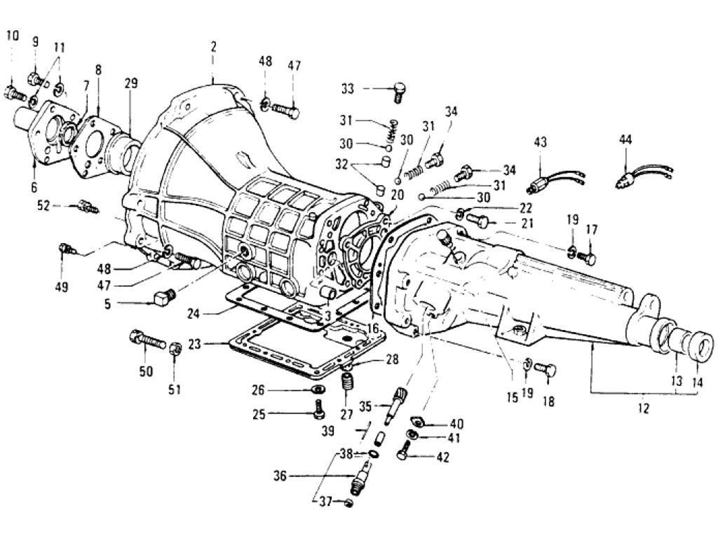 Datsun Pickup (620) Transmission Assembly & Case (F4W63WL ...