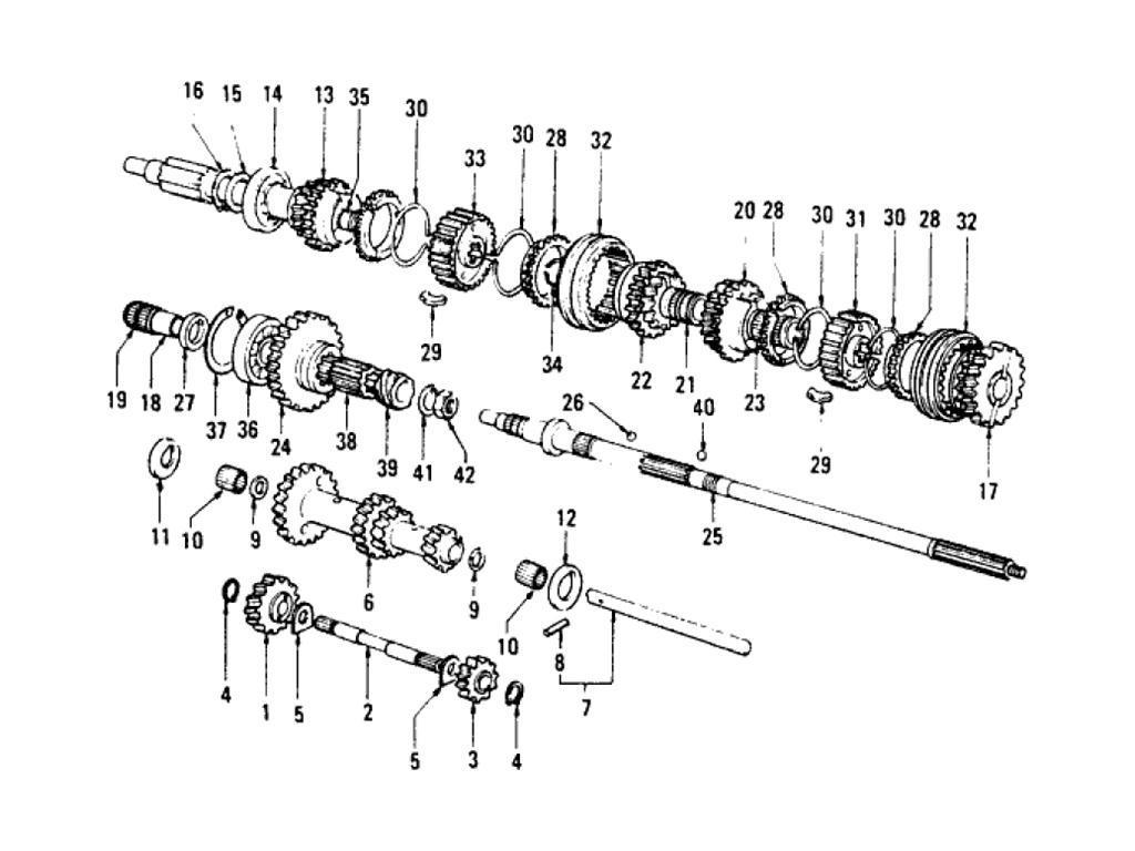 Datsun Pickup (620) Transmission Gear (F4W63L) (To Sep.-'73)