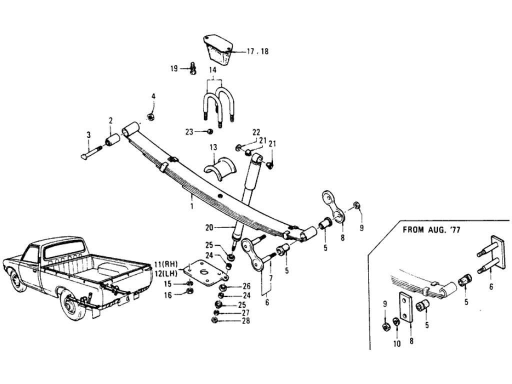 Datsun Pickup (620) Rear Suspension