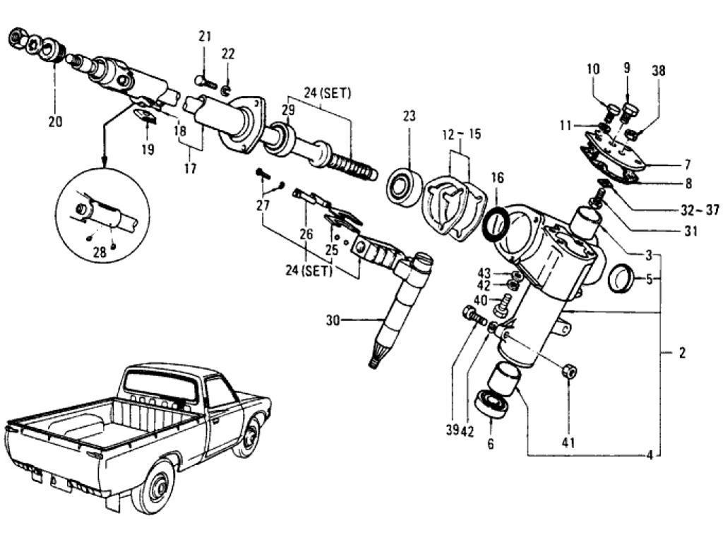 Datsun Pickup (620) Steering Gear