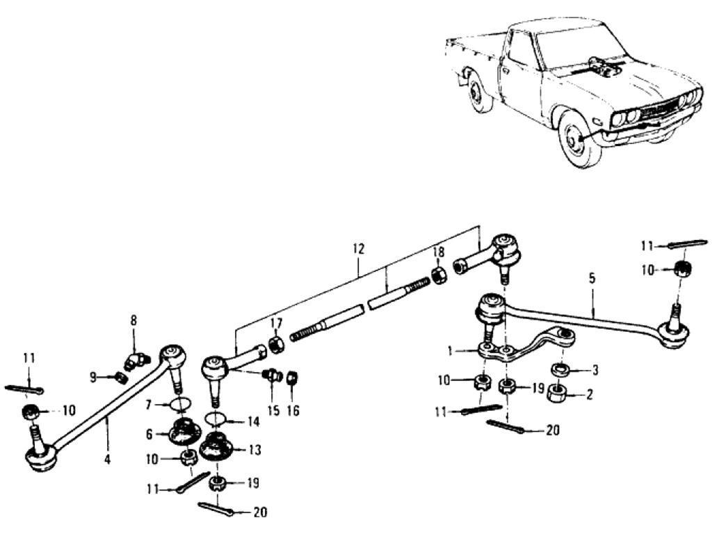 Datsun Pickup (620) Steering Linkage