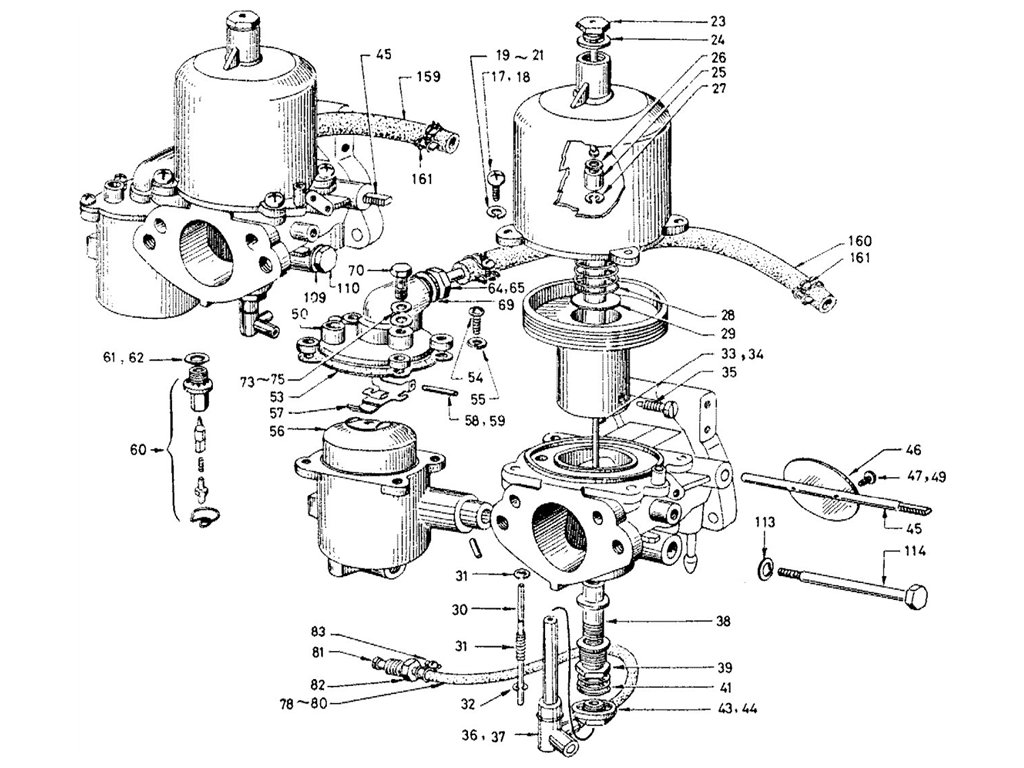 Datsun Sports 1600 2000 1600 R16 Carburetor Su