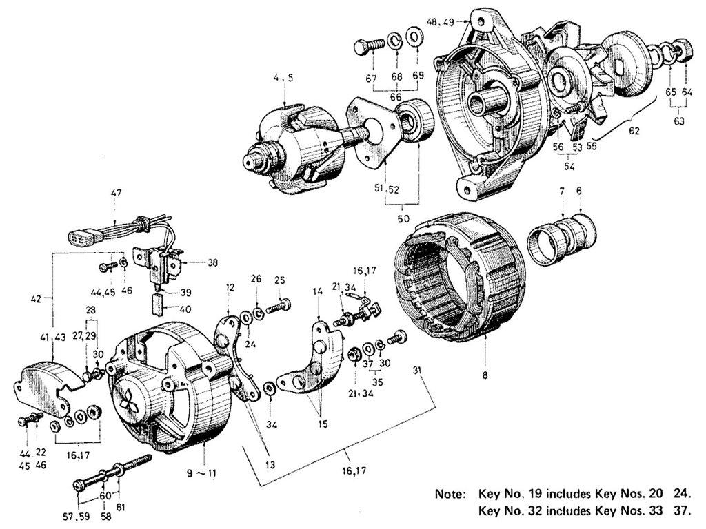 datsun sports 1600  2000 alternator  emission control