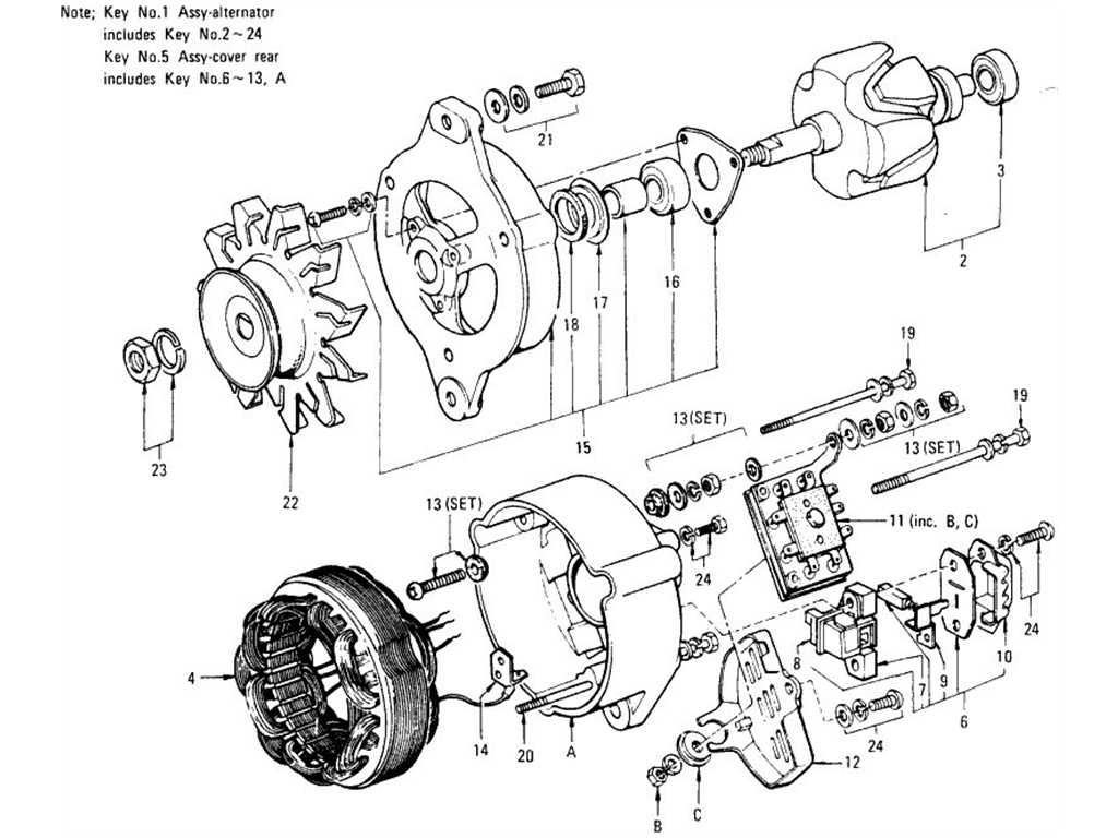 datsun 1200  b110  alternator  hitachi
