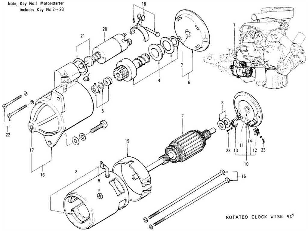 Datsun 1200 B110 Starter Motor Hitachi Wiring Diagram