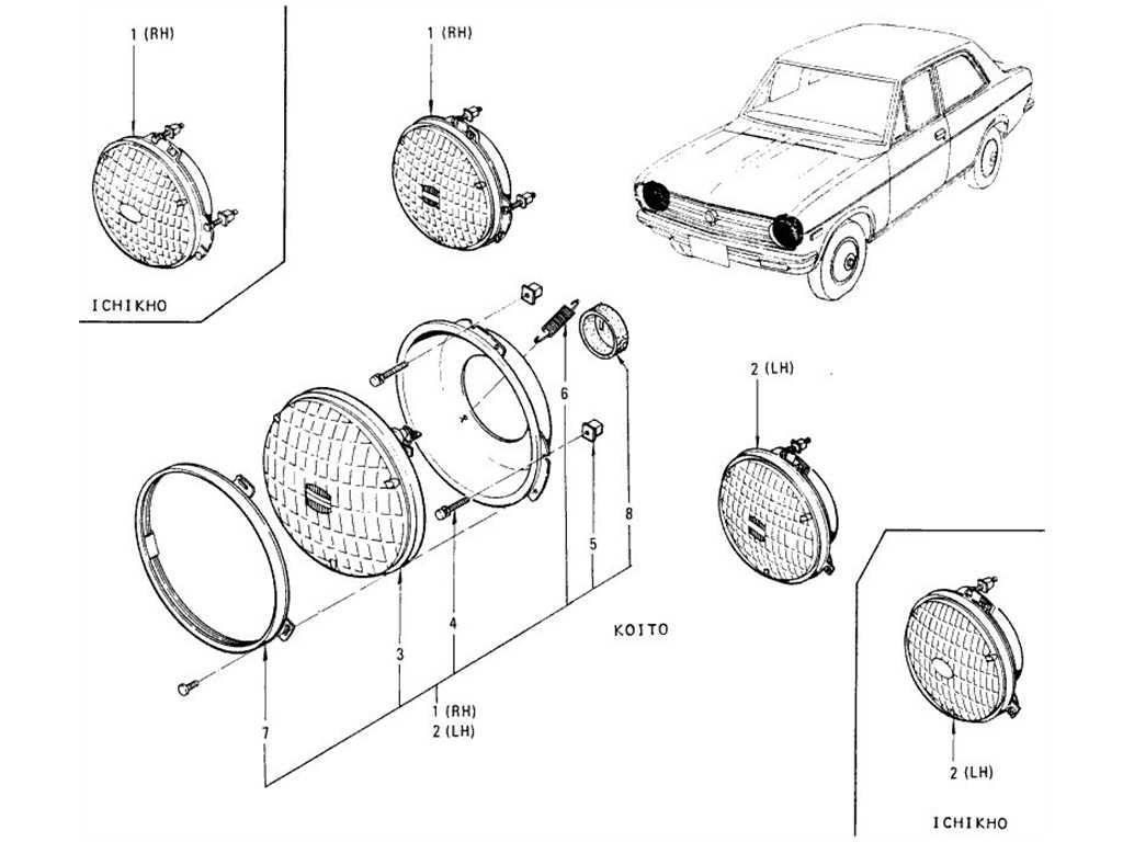 Datsun 1200 B110 Head Lamp