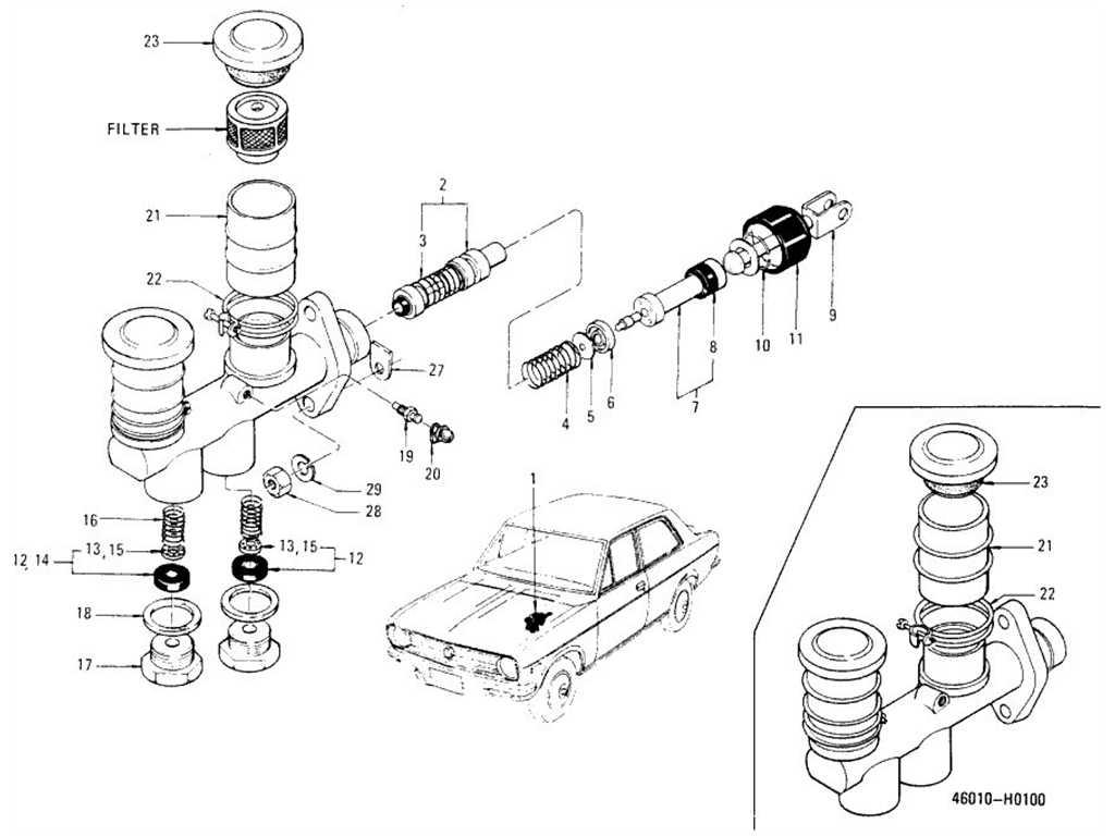 Datsun 1200 B110 Brake Master Cylinder