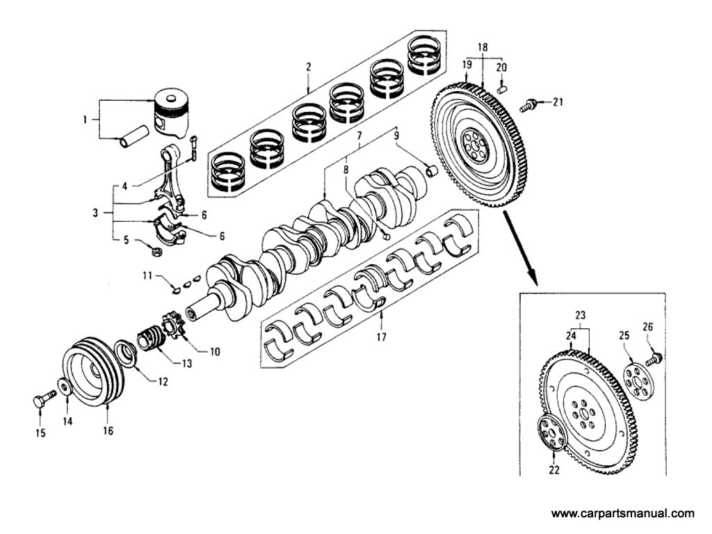 Piston, Crankshaft & Flywheel Parts