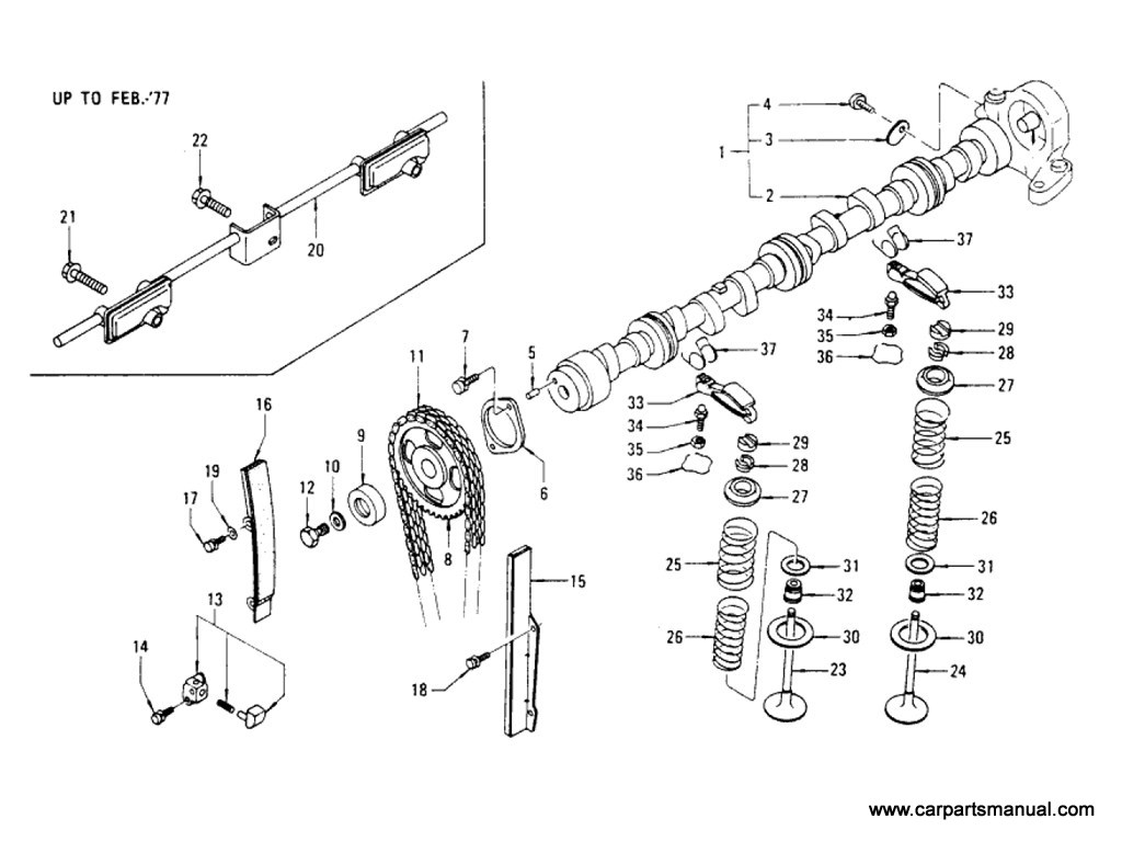 Camshaft & Valve Mechanism Parts