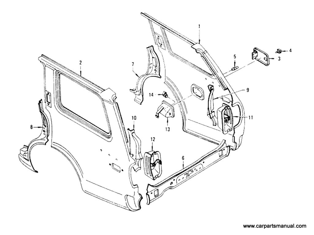 Rear Fender & Fitting (Wagon)