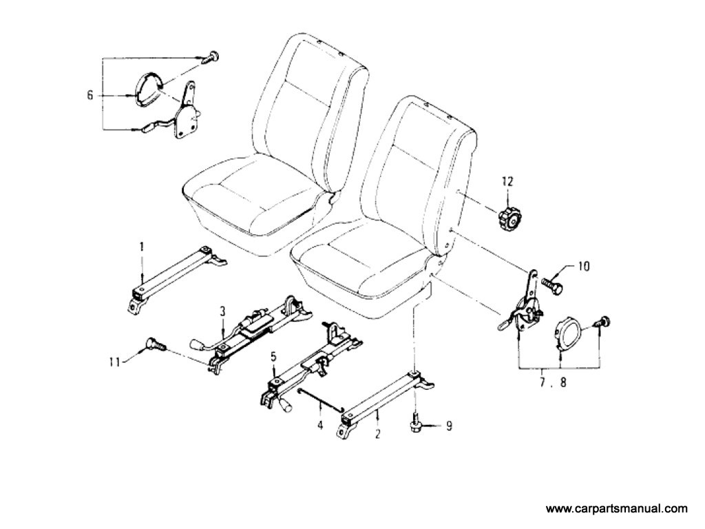 Front Seat Slide Parts (Wagon)