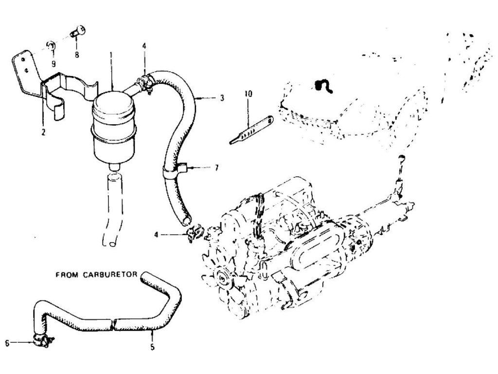 Datsun Z Fuel Filter Strainer Hose L24 L26 To Nov 74 280z