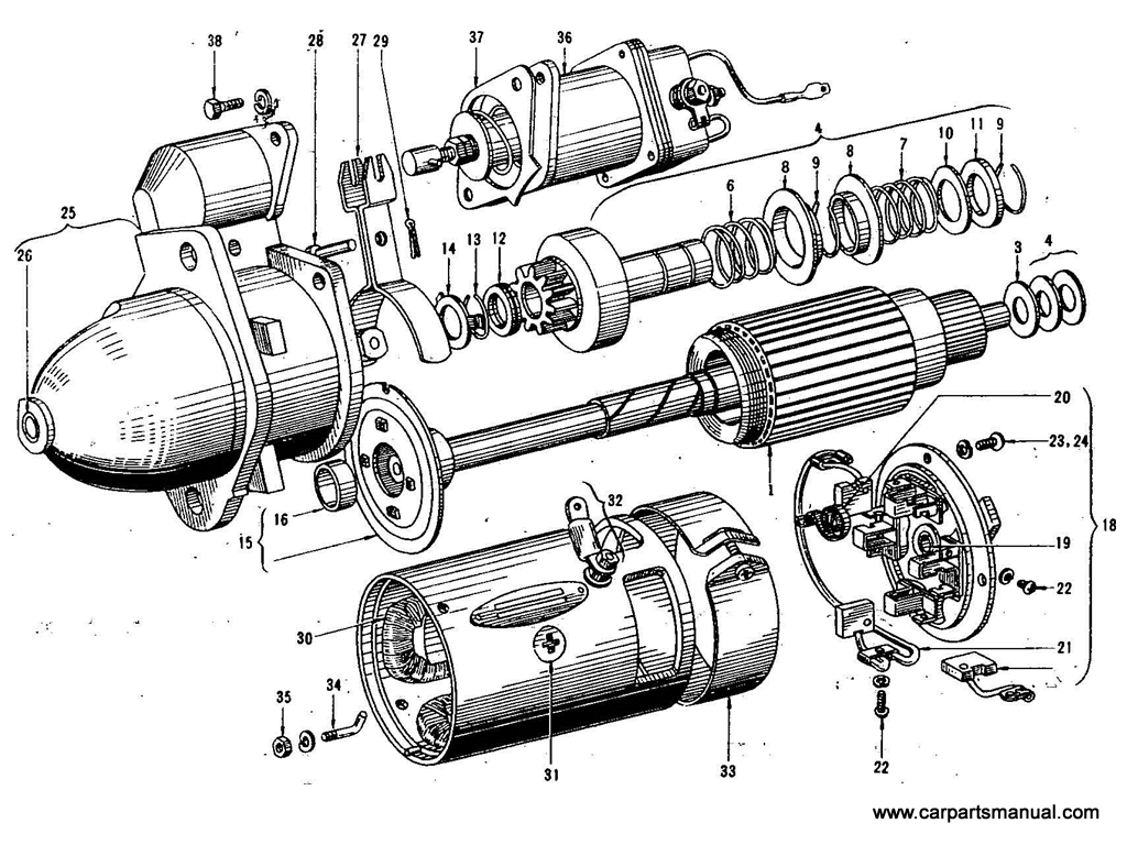 Starter Motor (Hitatch) (To Jan.-'65)