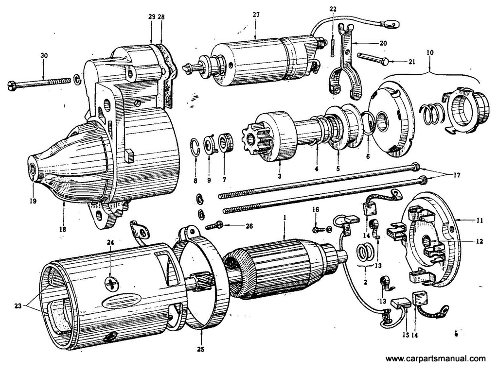Starter Motor (Hitatch) (From Feb.-'65)