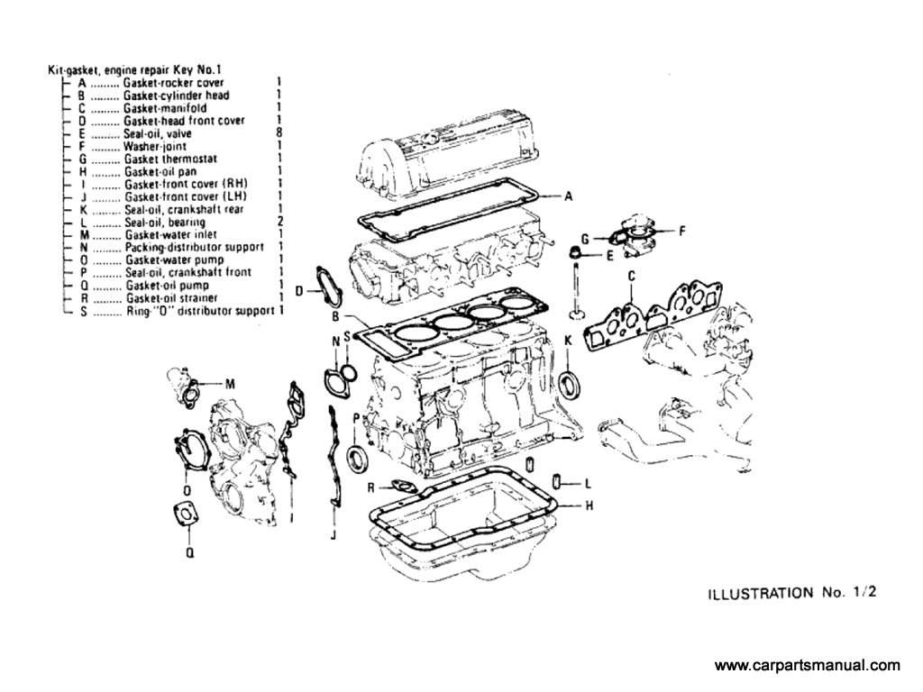 Engine Gasket Kit (L18) [1]