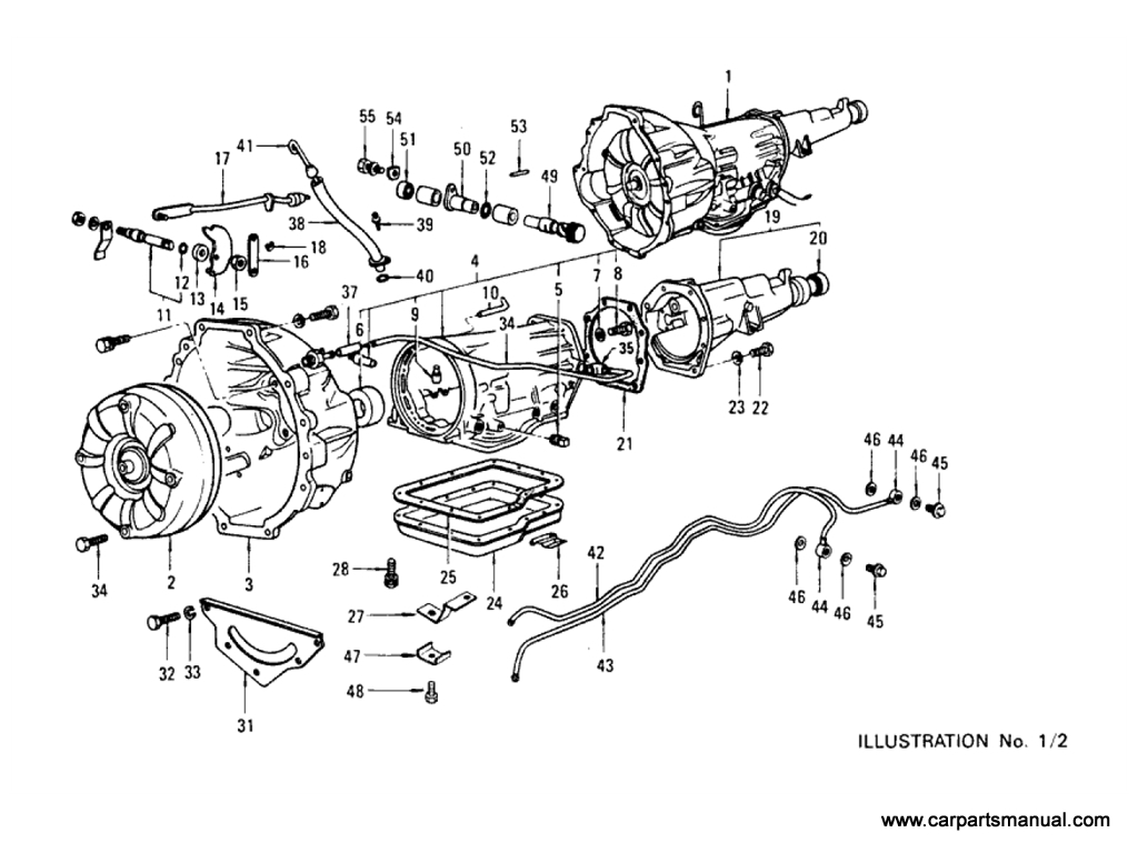 Transmission Case & Fitting Parts (Automatic) (3N71B) [1]
