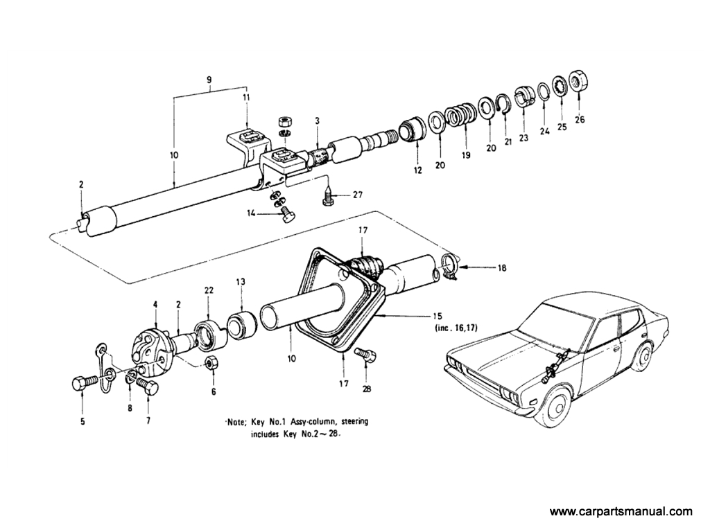 Steering Column (Collapsible)