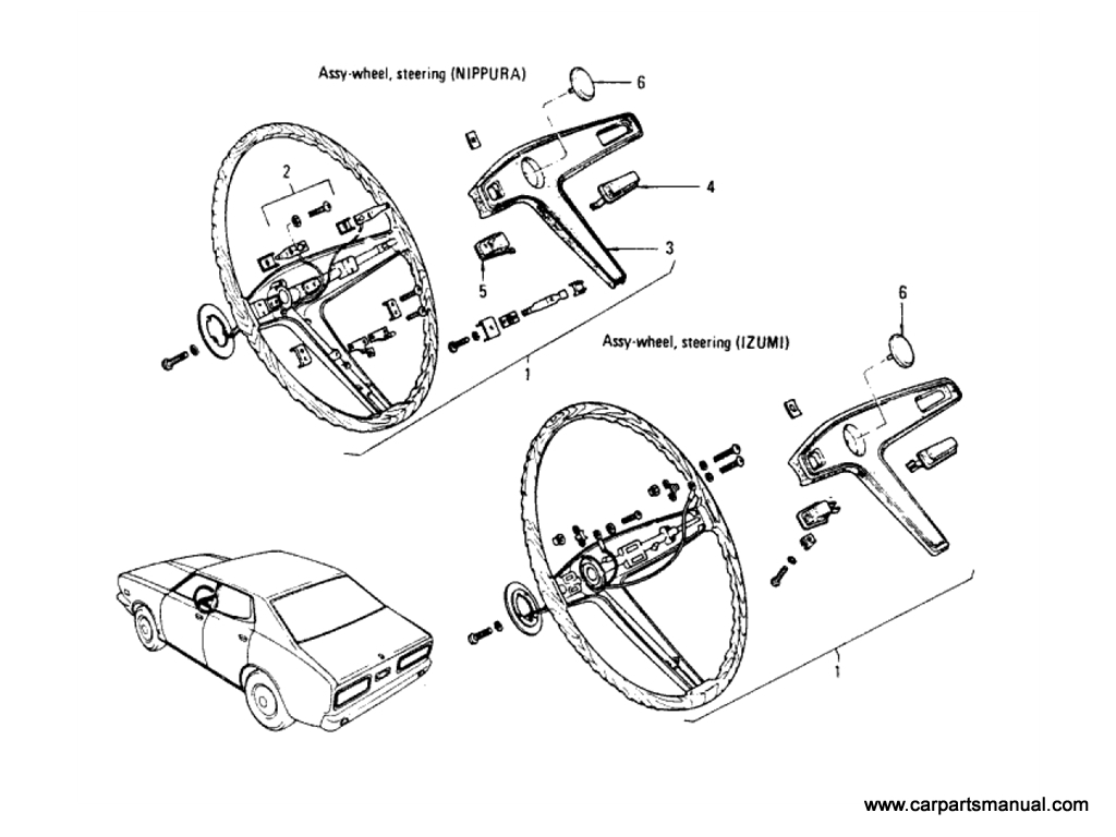 Steering Wheel (Hardtop & Op.Sedan)