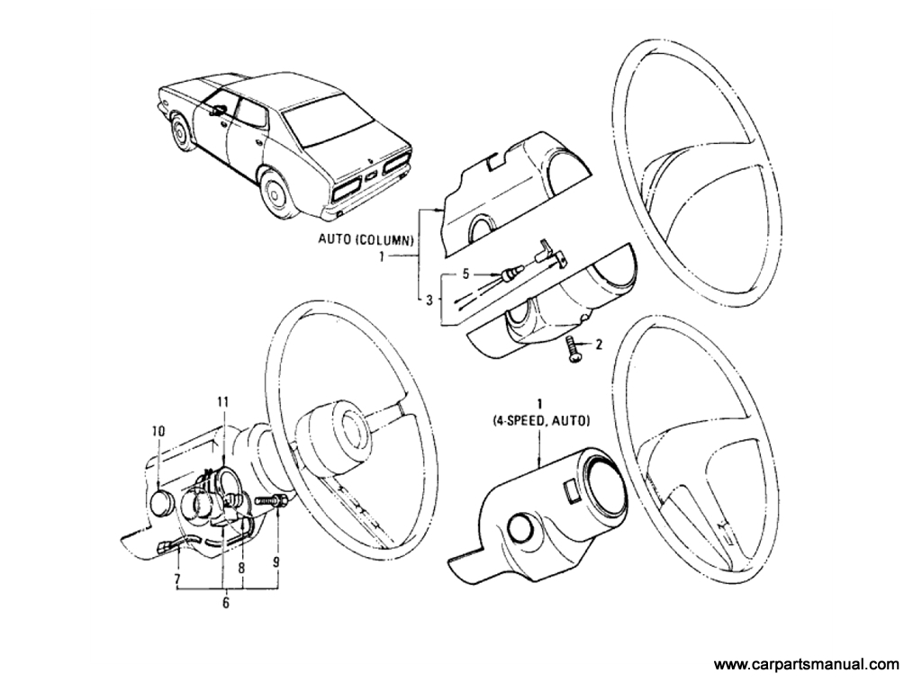 Steering Shell Cover & Lock