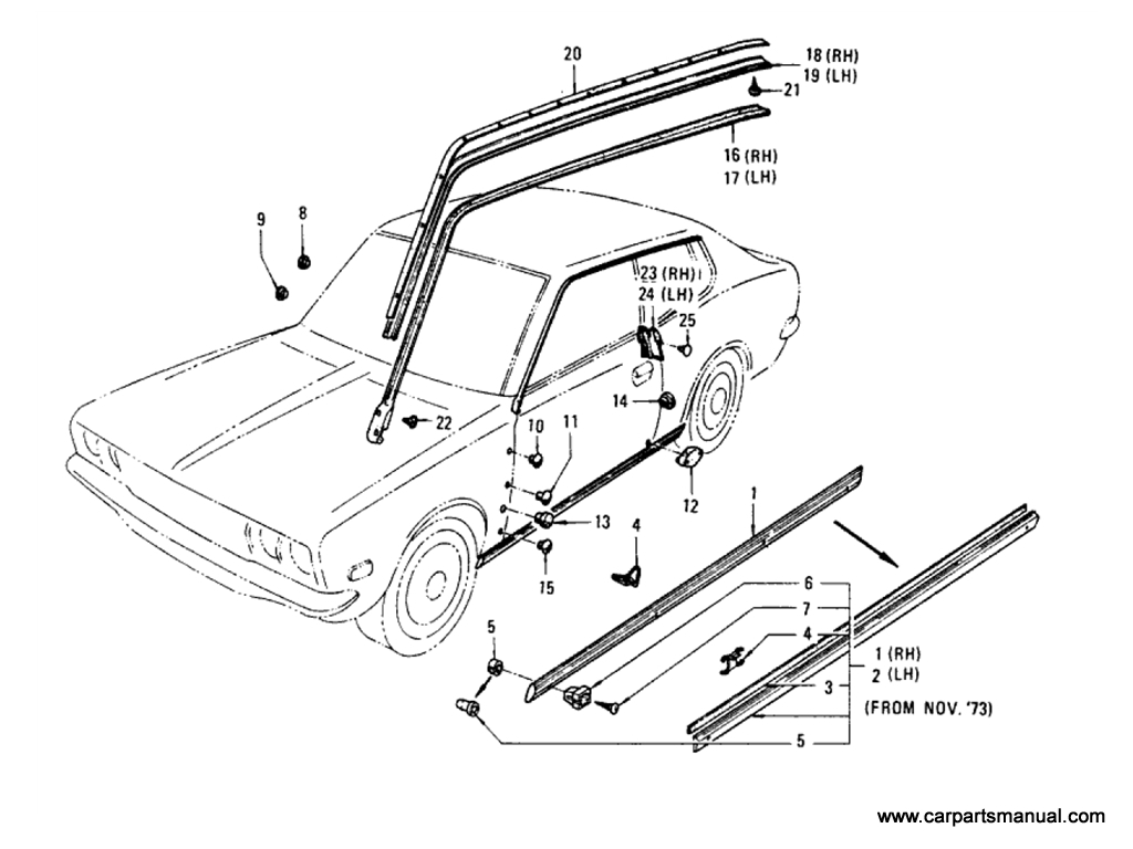 Body Side Fitting (Hardtop)