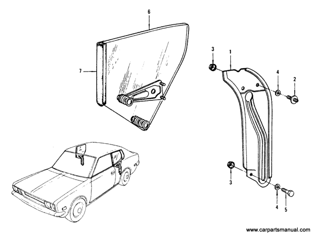 Side Window Parts (Hardtop)