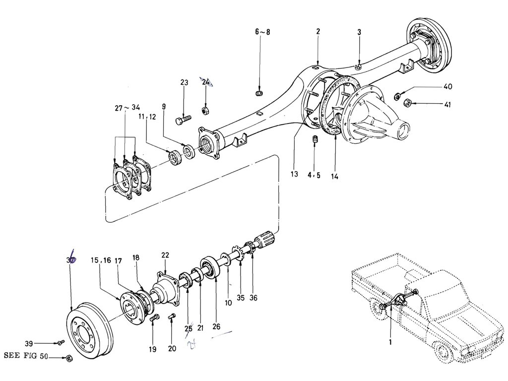 Rear Axle Case (J13 & L16)
