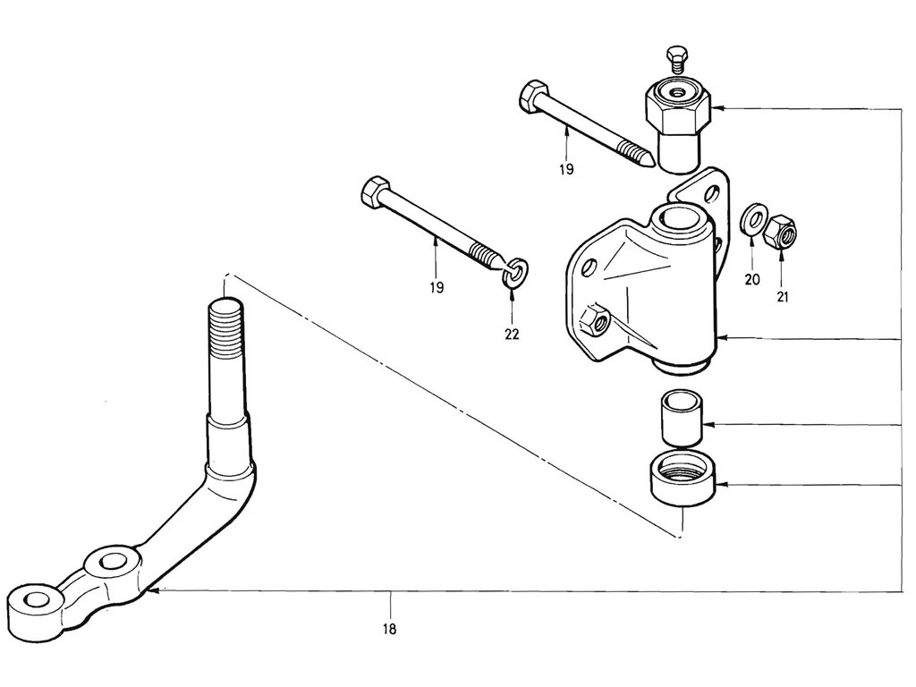 Steering Idler & Arm (J13 & L16) (From Oct.-'69)