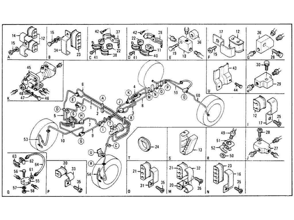 Brake Piping (Tandem Master Cylinder) (From Aug.-'75)