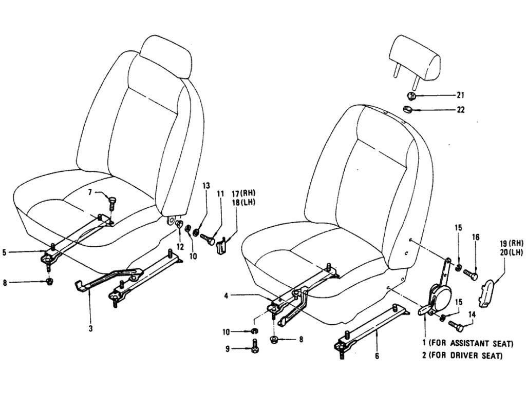 Reclining Device & Slide Parts (Deluxe Cab)