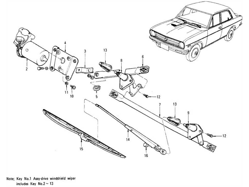 Windshield Wiper, Motor & Wiper Blade